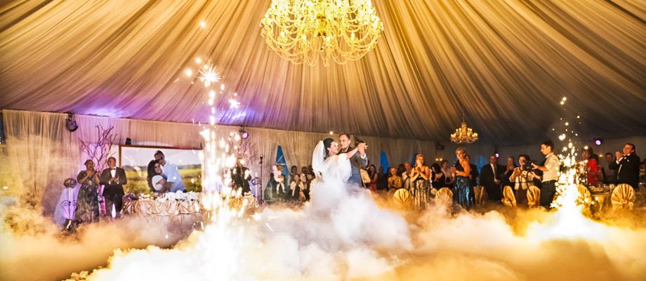 Fum greu gheata carbonica nunta
