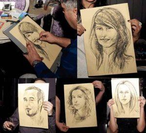 caricaturi alb-negru