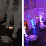 comparatie iluminat arhitectural inainte si dupa